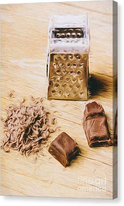 Shredded Chocolate Flakes Fine Art Drawing Canvas Print by Jorgo Photography - Wall Art Gallery