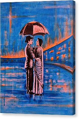 India Canvas Print - Shree 420 by Usha Shantharam
