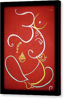 Shree Ganeshji. Canvas Print by Manali Thakkar