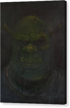 Shrek Canvas Print by Antonio Ortiz