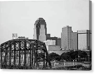 Shreveport Downtown - Bw Canvas Print