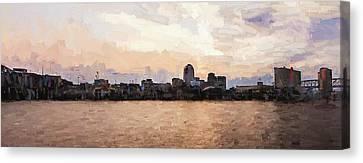 Shreveport Pano Canvas Print by Scott Pellegrin