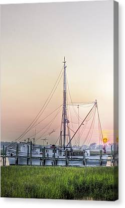 Shrimp Boat Sunset Canvas Print by Drew Castelhano