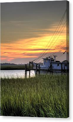 Shrimp Boat Sunset Canvas Print by Dustin K Ryan