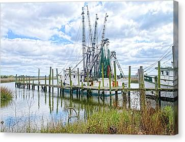 Shrimp Boats Of St. Helena Island Canvas Print