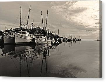 Shrimp Boats On The Altamaha Canvas Print