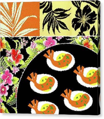 Shrimp Deviled Eggs Canvas Print by James Temple