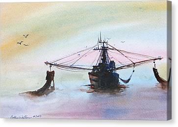 Shrimp Trawler Canvas Print