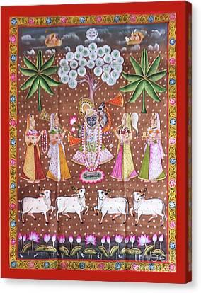 Shrinathji Vanvihar Pichwai Canvas Print