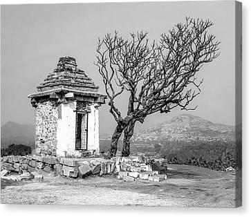 Shrine At Karnataka Canvas Print by Dominic Piperata