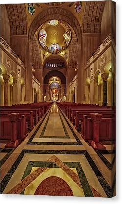 Shrine Of The Immaculate Conception Canvas Print by Susan Candelario