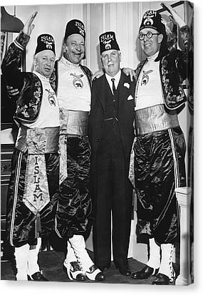 Shriner James Rolph Canvas Print by Underwood Archives