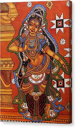Shringara Narthaki  Dancing Girl Canvas Print by Anu Edasseri