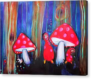 Shroom Folk Canvas Print