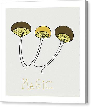 Canvas Print featuring the drawing Shroom by Frank Tschakert