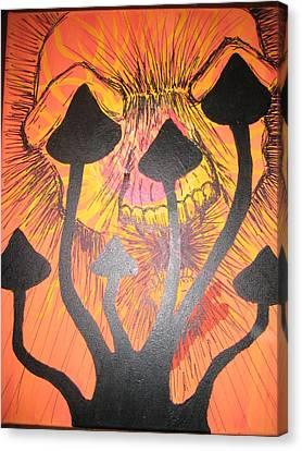 Shroom Skull Canvas Print by Alexander Holmes