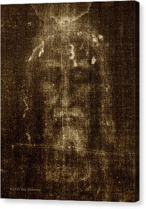Jesus Canvas Print - Shroud Of Turin by Ray Downing