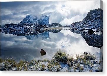 Shuksan In Fog Canvas Print by Idaho Scenic Images Linda Lantzy
