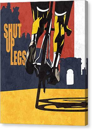 Illustrations Canvas Print - Shut Up Legs Tour De France Poster by Sassan Filsoof