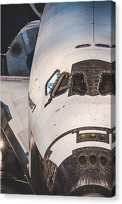 Shuttle Close Up Canvas Print by David Collins