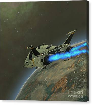 Shuttlestar Transport Canvas Print by Corey Ford