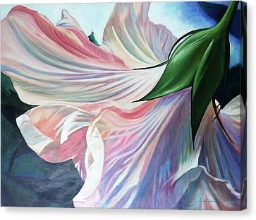 Shy Bloom Canvas Print by Jan Swaren