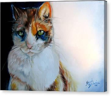 Shy Calli Canvas Print by Marcia Baldwin