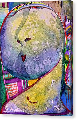 Abstract Digital Canvas Print - Shy Gal by Mindy Newman