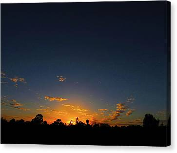 Canvas Print featuring the photograph Shy Sunset by Mark Blauhoefer