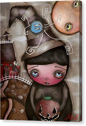 Shy Witch Canvas Print by  Abril Andrade Griffith