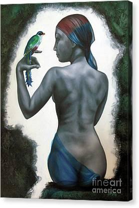 Si Tu Supieras Cuanto Canvas Print by Jorge L Martinez Camilleri
