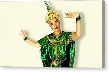 Siam Culture Girl Canvas Print by Ian Gledhill