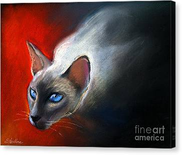 Siamese Cat 7 Painting Canvas Print