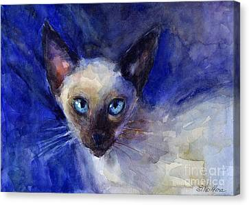 Siamese Cat  Canvas Print by Svetlana Novikova