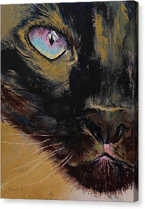 Close Up Canvas Print - Siamese by Michael Creese
