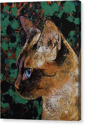 Siamese Portrait Canvas Print