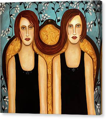 Siamese Twins Canvas Print by Leah Saulnier The Painting Maniac