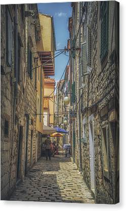 Sibenik Alleyway No 2 Canvas Print by Chris Fletcher