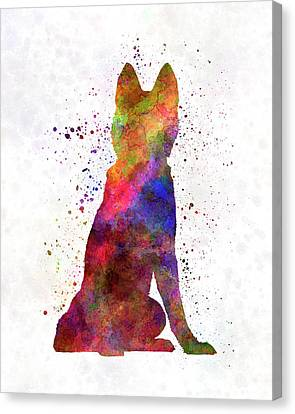 Siberian Husky 02 In Watercolor Canvas Print by Pablo Romero