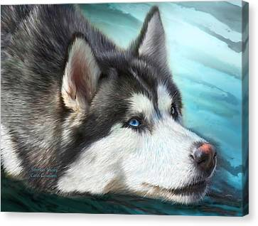 Siberian Husky Canvas Print by Carol Cavalaris