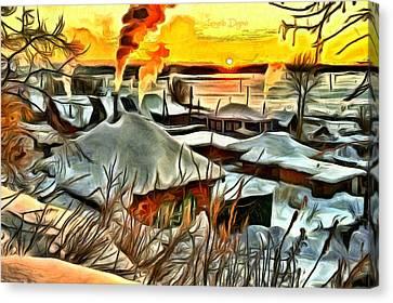 Siberian Winter - Da Canvas Print by Leonardo Digenio