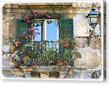 Sicilian Balcony Canvas Print by David Birchall