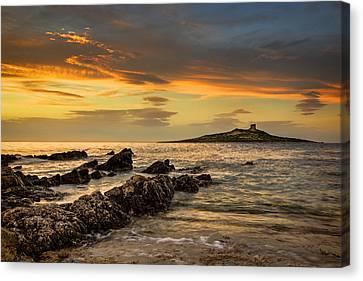 Sicilian Sunset Isola Delle Femmine Canvas Print