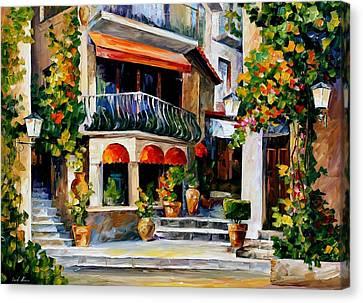 Sicily - Spring Morning Canvas Print by Leonid Afremov