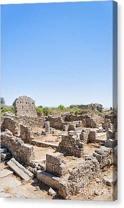 Side Ancient Shop Ruins Canvas Print by Antony McAulay