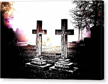 Side By Side Canvas Print by Diane Payne