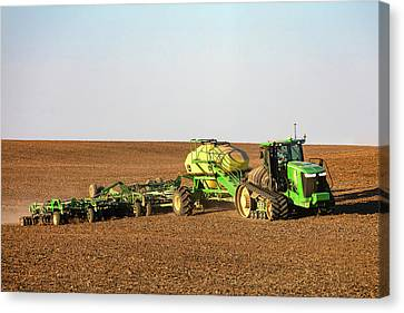 Side Hill Seeding Canvas Print by Todd Klassy