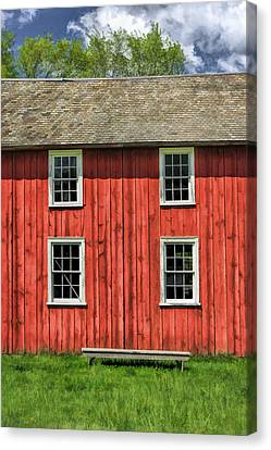 Side Of Barn And Windows At Old World Wisconsin Canvas Print