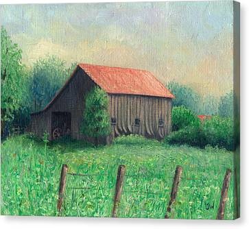 Side Of The Road Canvas Print by Joe Winkler