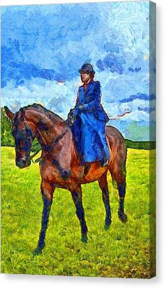 Canvas Print featuring the photograph Side Saddle by Scott Carruthers